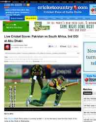 Live Cricket Score Pakistan vs South Africa 3rd: Cricket Country